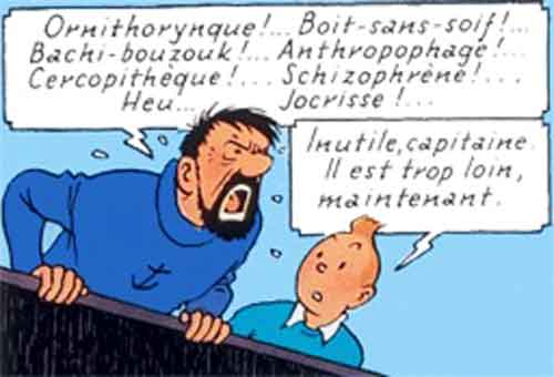 invectives capitaine haddock